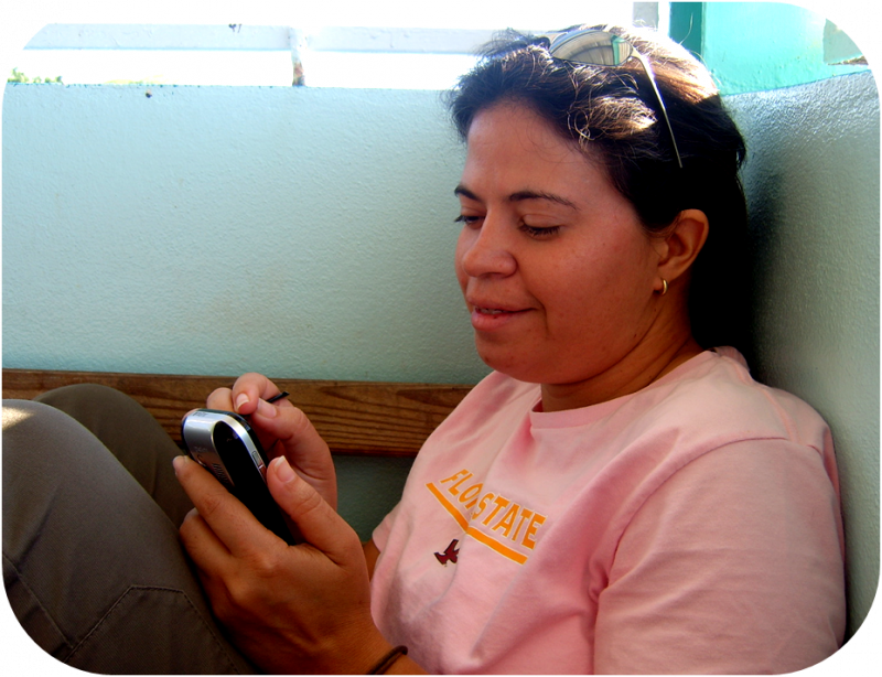 Pastor and her phone...